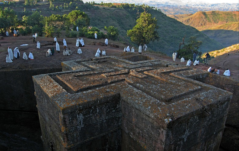 The rock-hewn church in Lalibela