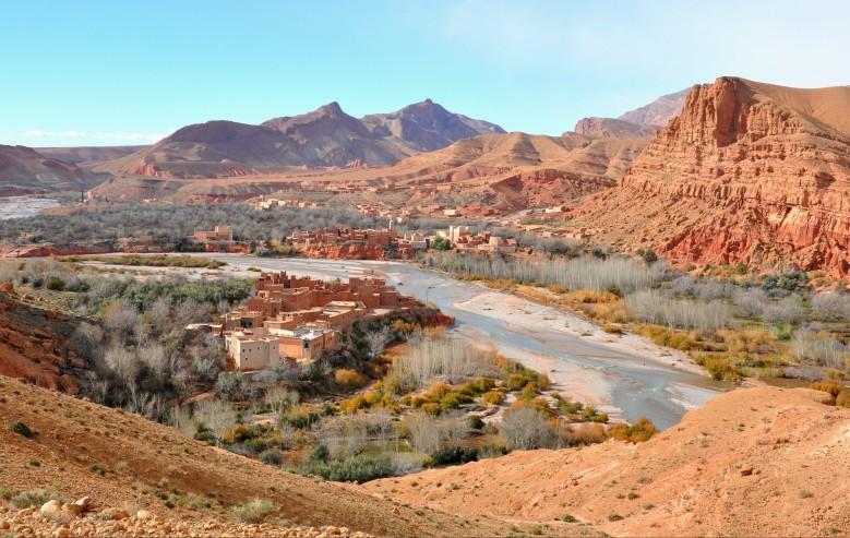Vandring bland berberbyar i Rose Valley