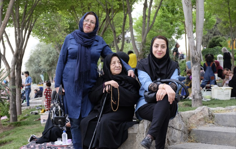 Tre generationers kvinnor