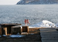 Maybe you want to try swimming in the Baikal Lake