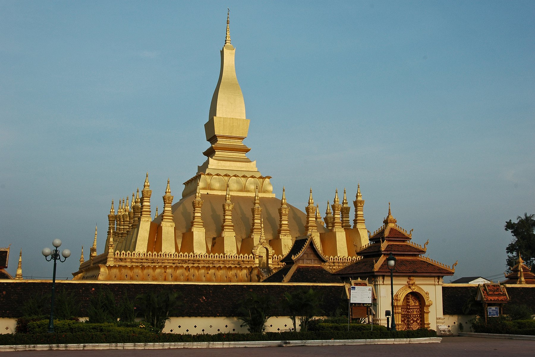 Pha That Luang i Vientianne
