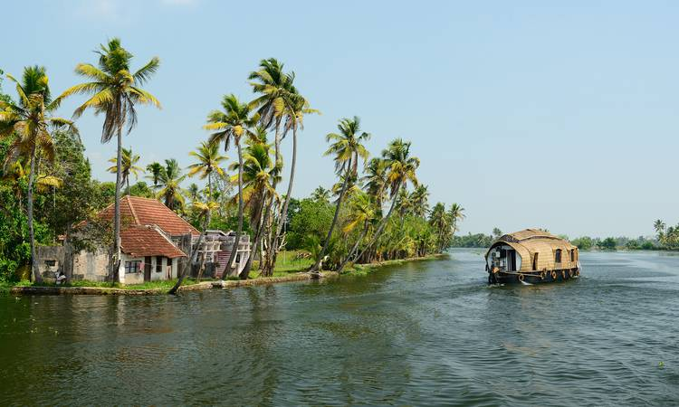 Keralas berömda backwaters